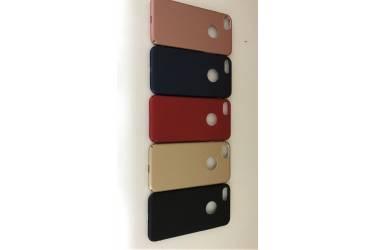 Накладка пластик Iphone 7G окошк.под ябл. синий