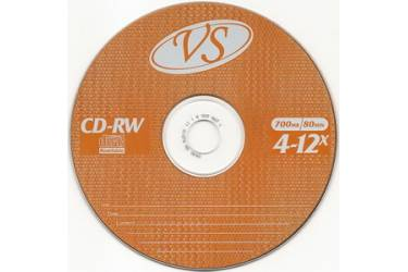 Диск CD-RW VS 700MB 4-12x конверт/1