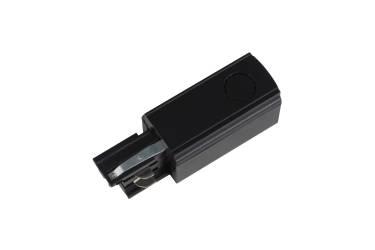 Шинопровод Uniel UBX-A02 BLACK 1 Ввод питания для шинопровода левый чёрный