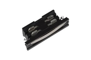 Шинопровод Uniel UBX-A11 BLACK 1 Соединитель для шинопроводов прямой внутренний чёрный