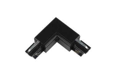Шинопровод Uniel UBX-A22 BLACK 1 Соединитель для шинопроводов L-образный Внутренний чёрный