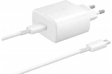 Оригинальное CЗУ Samsung EP-TA800XWEGRU USB Type-C 3A+2A (PD) для Samsung кабель USB Type C белый
