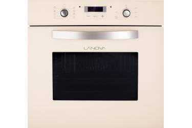 Духовой шкаф Электрический Lanova VGA 4008 С бежевое стекло 70л 60*60*55см 8пр гриль вертел конвекция дисплей