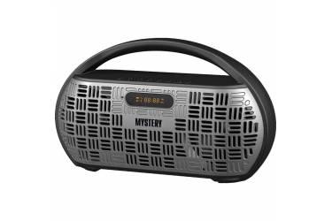 Аудиомагнитола Mystery MBA-501UB серебристый 8Вт/MP3/FM(dig)/USB/BT/microSD
