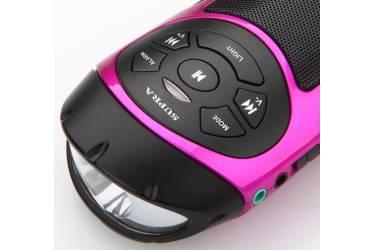 Аудиомагнитола Supra PAS-6277 розовый/черный 3Вт/MP3/FM(dig)/BT/microSD
