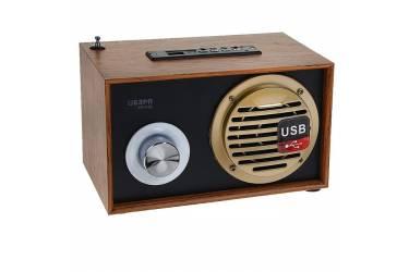 Радиоприемник портативный Сигнал БЗРП РП-316 дерево темное/черный USB SD