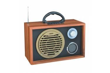Радиоприемник портативный Сигнал БЗРП РП-317 дерево светлое/черный USB SD