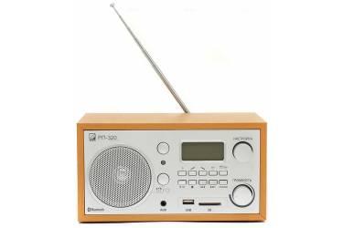 Радиоприемник портативный Сигнал БЗРП РП-320 дерево светлое/серебристый USB SD
