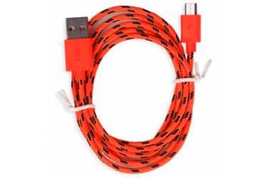 Кабель USB Smartbuy MicroUSB нейлон, длина 1 м, красный