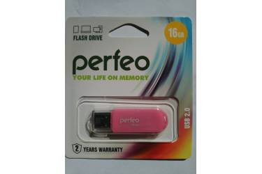 USB флэш-накопитель 16GB Perfeo C03 розовый USB2.0