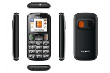 Мобильный телефон teXet TM-B116 черный
