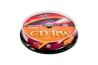 Диск CD-RW Vs 700MB 4-12x CB/10