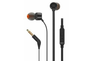 Наушники JBL T110  внутриканальные с микрофоном черные