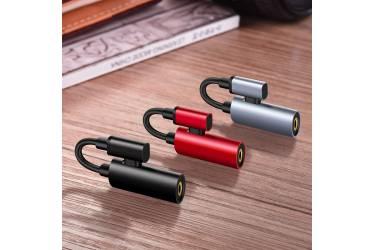 Адаптер Hoco LS19 Type-C 2-in-1 Audio Converter black