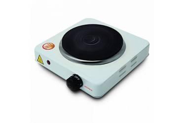 Плитка электрическая настольная Supra HS-101 белый эмаль, закрытый нагреват элемент,1конфорка