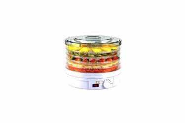 Сушка для фруктов и овощей Irit IR-5921 белый/прозрачный 245Вт 5поддонов 240*320*320мм конвективная