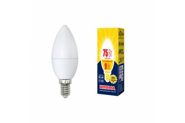 Лампа светодиодная Uniel Norma LED-C37-9W/WW/E14/FR/NR 3000K свеча