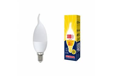 Лампа светодиодная Uniel Norma LED-CW37-11W/WW/E14/FR/NR 3000K свеча на ветру