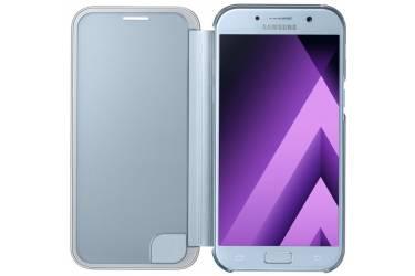 Оригинальный чехол (флип-кейс) для Samsung Galaxy A5 (2017) Clear View Cover голубой (EF-ZA520CLEGRU)