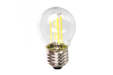 Лампа светодиодная ASD LED-ШАР-deco 5Вт 230В Е27 4000К 450Лм прозрачная IN HOME