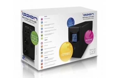 Источник бесперебойного питания Ippon Back Power Pro LCD 600 Euro 360Вт 600ВА черный