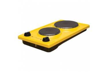 Плитка электрическая Лысьва ЭПБ 22 желтый эмаль (настольная) блин 2конфорки(1500Вт+700Вт)