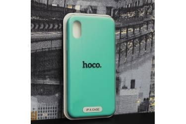Силиконовый чехол HOCO PURE Series для iPhone X Ice Blue