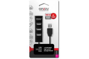Разветвитель USB 3.0 Ginzzu GR-339UB 4порт. черный