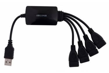 Разветвитель USB 2.0 PC Pet Splitter 4порт. черный