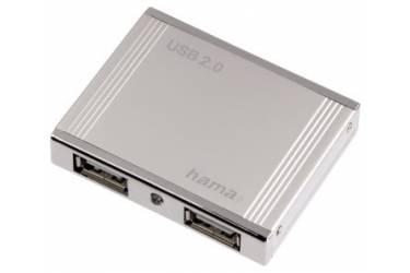 Разветвитель USB 2.0 Hama Aluminium 4порт. (00078498)