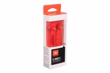 Наушники JBL C100SI внутриканальные с микрофоном красные