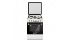 Комбинированная плита Lofratelli OGE 6031 L OW бежевая верх3+1,чугун,низ электрич,58л,гриль,подсветка,RUSTIC