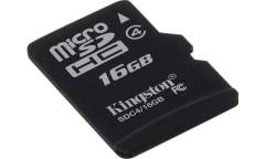 Карта памяти Kingston MicroSDHC 16GB Class 4