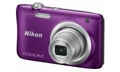 """Фотоаппарат Nikon CoolPix A100 фиолетовый 20.1Mpix Zoom5x 2.7"""" 720p 25Mb SDXC CCD 1x2.3 IS el 10minF/EN-EL19"""