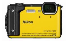 "Фотоаппарат Nikon CoolPix W300 желтый 16Mpix Zoom5x 3"" 4K 99Mb SDXC/SD/SDHC CMOS 1x2.3 50minF 30fr/s HDMI/KPr/DPr/WPr/FPr/WiFi/EN-EL12"
