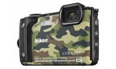 "Фотоаппарат Nikon CoolPix W300 камуфляж 16Mpix Zoom5x 3"" 4K 99Mb SDXC/SD/SDHC CMOS 1x2.3 50minF 30fr/s HDMI/KPr/DPr/WPr/FPr/WiFi/EN-EL12"