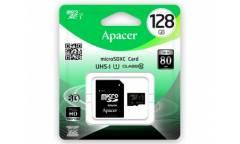 Карта памяти Apacer MicroSDXC 128GB Class 10 UHS-I (80Mb/s) + adapter