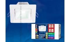 Светильник светодиодный встр потолоч Uniel ULМ-S61А-3W/NW WHITE  квадрат белый