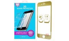 Защитное стекло 3D Krutoff Group для iPhone 7 (gold)