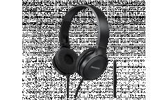 Наушники Panasonic RP-HF100MGCK, полноразмерные, с микрофоном черные