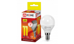 Лампа светодиодная IN HOME LED-ШАР-VC 11Вт 230В Е14 3000К 820Лм