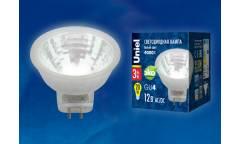 Лампа светодиодная Uniel LED-MR11-3W/WW/3000/GU4 220V