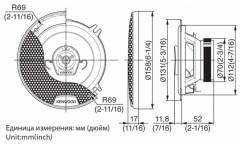 Колонки автомобильные Kenwood KFC-1352RG2 (13 см)