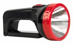 Фонарь SmartBuy аккумуляторный прожектор 12+9 SMD, черный/красный