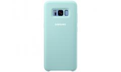 Оригинальный чехол (клип-кейс) для Samsung Galaxy S8 Silicone Cover голубой (EF-PG950TLEGRU)