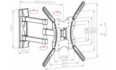 Кронштейн с 4 степенями свободы Arm Media LCD-404 черный (max 400х400 30kg)