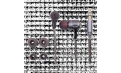 Наушники Ritmix RH-140  внутриканальные металлические серые