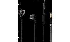 Наушники Ritmix RH-194M внутриканальные с микрофоном черные