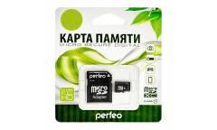 Карта памяти Perfeo MicroSDXC 128GB Class 10+adapter
