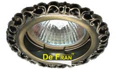 Светильник точечный_DE FRAN_ FT 1118 GAB MR16 зел.античное золото (SD-118 GAB)